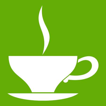 Cup of tea icon green