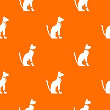 이집트 고양이 패턴 원활한