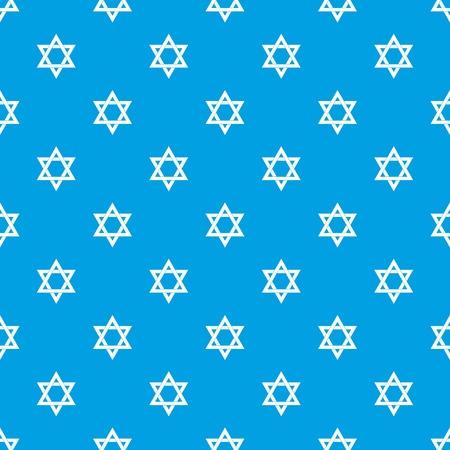 Star of David pattern seamless blue Illustration