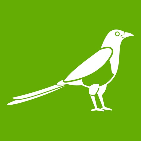 Bird magpie icon green