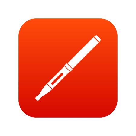 Mod and clearomizer in the kit icon digital red Illustration