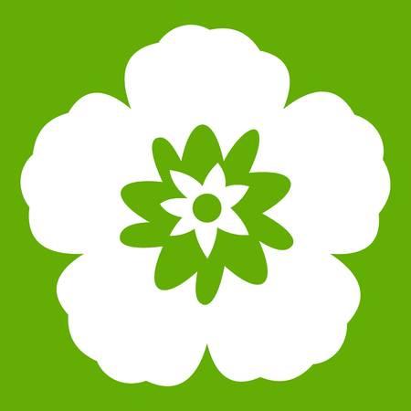 Rose of Sharon, korean flower icon green Illustration