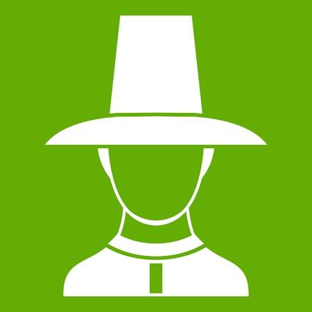 editorial: Korean soldier in uniform icon green