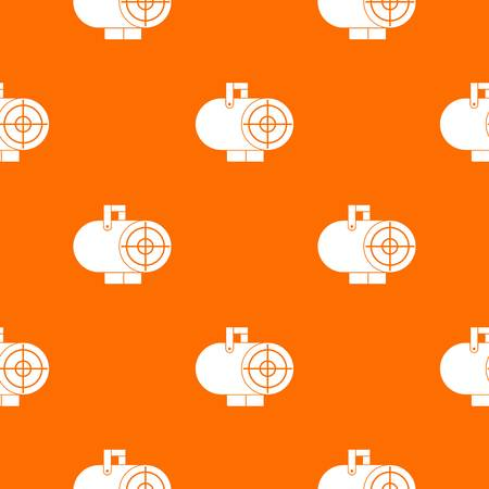 Industrial fan heater pattern repeat seamless in orange color for any design. Vector geometric illustration
