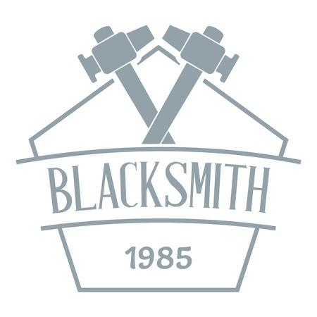 Hammer blacksmith logo. Simple illustration of hammer blacksmith vector logo for web Illustration