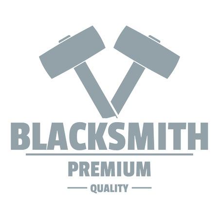 Premium blacksmith logo. Simple illustration of premium blacksmith vector logo for web Illustration
