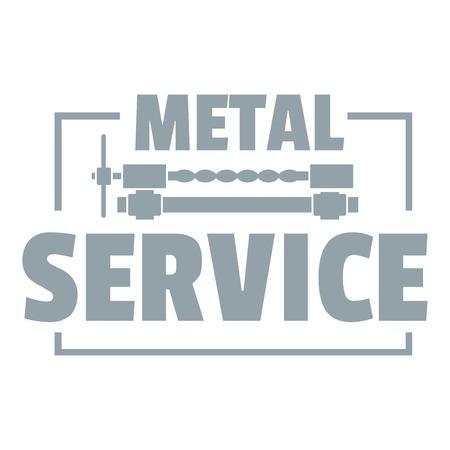 Craft service logo, simple gray style
