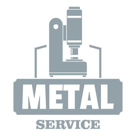 Metal service logo. Simple illustration of metal service vector logo for web
