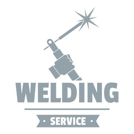 Welding workshop logo. Simple illustration of welding workshop vector logo for web 일러스트