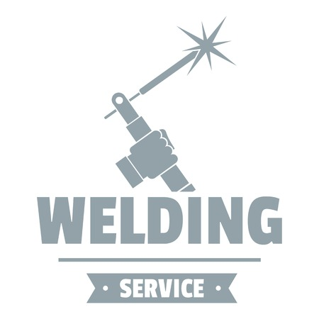 Welding workshop logo. Simple illustration of welding workshop vector logo for web Vettoriali