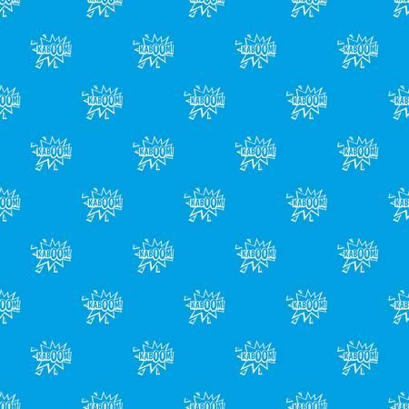 Kaboom, explosion pattern seamless blue