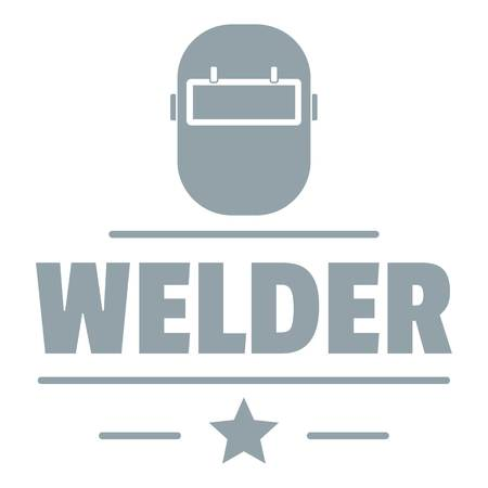 Welder mask logo, simple gray style Иллюстрация