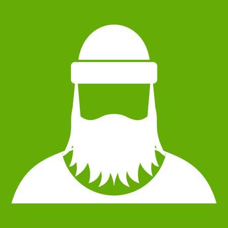 Lumberjack icon green Illustration