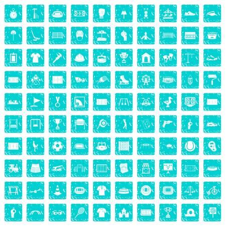 100 icônes de jeu de jeu dans la couleur de style grunge isolé sur fond blanc illustration vectorielle Banque d'images - 88670728