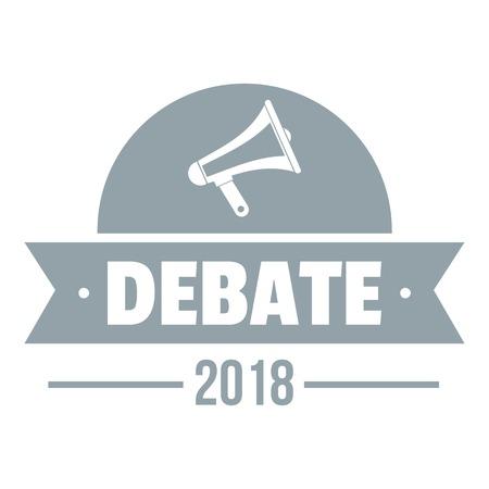Debate logo. Simple illustration of debate vector logo for web Illustration