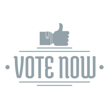 Vote now logo. Simple illustration of vote now vector logo for web