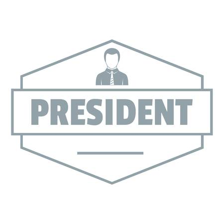 President logo. Simple illustration of president vector logo for web