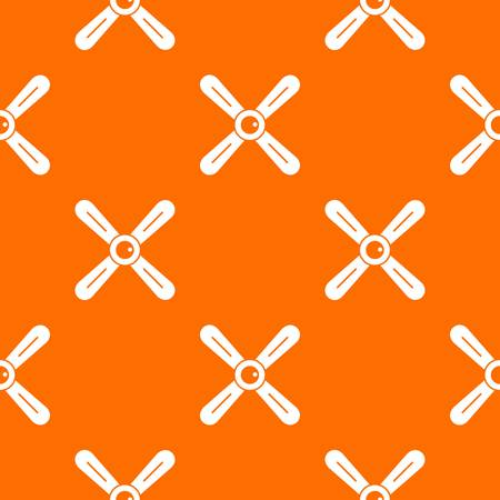 Propeller pattern repeat seamless in orange color for any design. Vector geometric illustration