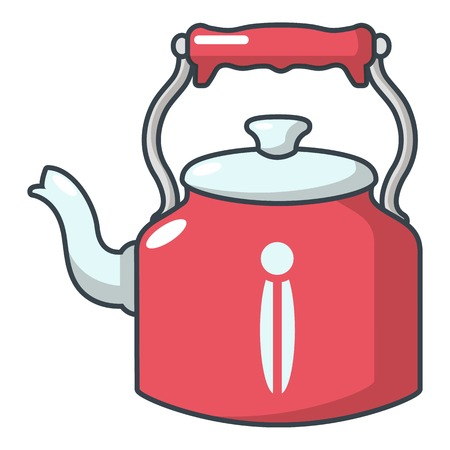 Home teapot icon. Cartoon illustration of home teapot vector icon for web