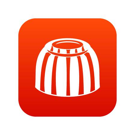 Fruit jelly icon digital red