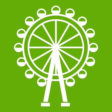 Ferris wheel icon green