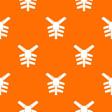 Human thorax pattern seamless Illustration