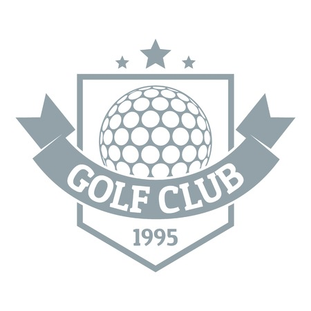 Golf, simple gray style
