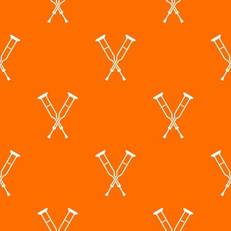 accidental: Crutches pattern seamless Illustration