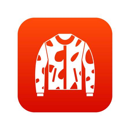 Camouflage jacket icon digital red