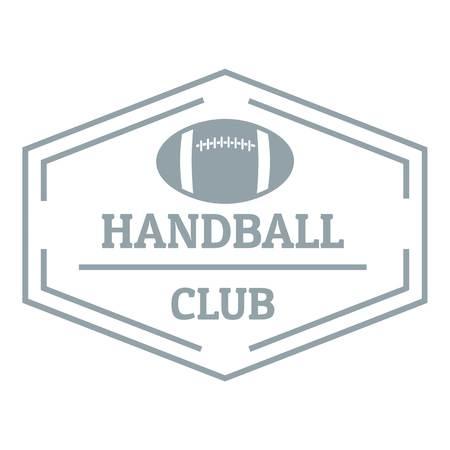 Handball, simple gray style