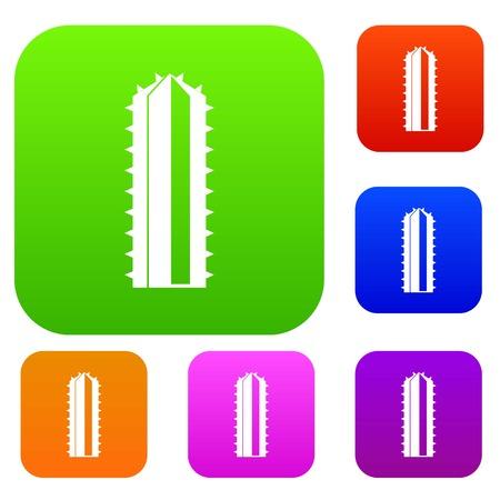 Cactus plant set color collection