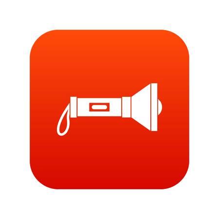 lite: Lantern icon digital red