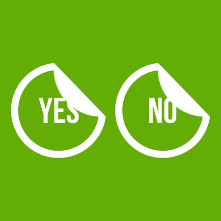 Yes and no buttons icon green