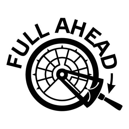 Full ahead icon. Simple illustration of full ahead vector icon for web