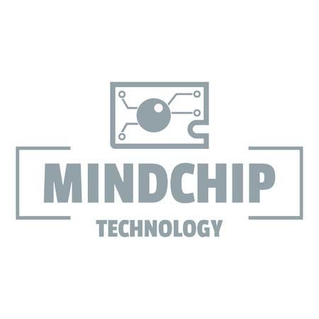 Mindchip technology, simple gray style
