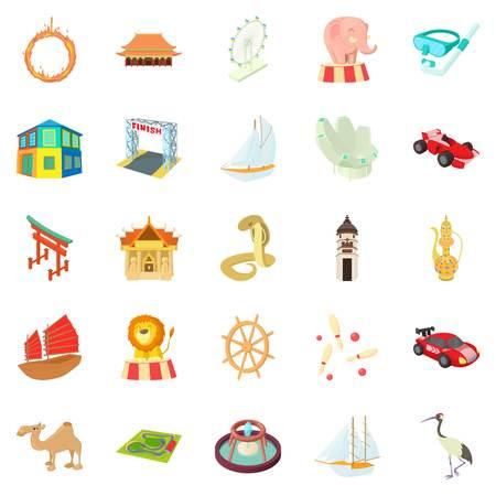Engaño de un conjunto de iconos turísticos. Conjunto de dibujos animados de 25 decepción de un turista vector iconos para web aislado sobre fondo blanco