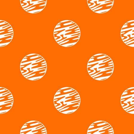 遠く離れた惑星パターンを任意のデザインにオレンジ色でシームレスな繰り返します。ベクトルの幾何学的な図  イラスト・ベクター素材