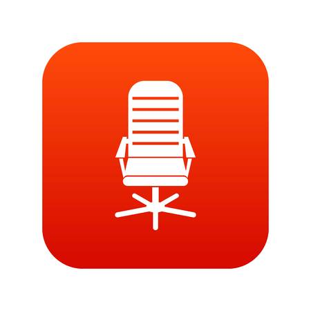Office chair icon digital red for any design isolated on white vector illustration