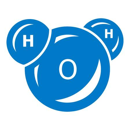 Water molecule icon. Simple illustration of water molecule vector icon for web