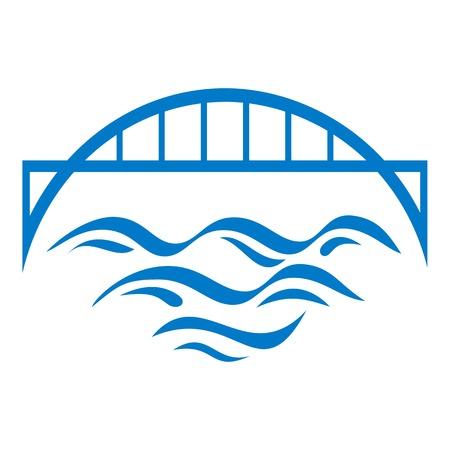Bridge icon. Simple illustration of bridge vector icon for web