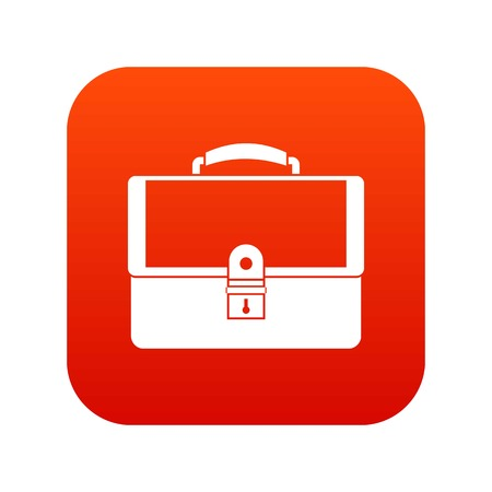 Briefcase icon digital red for any design isolated on white vector illustration Illustration
