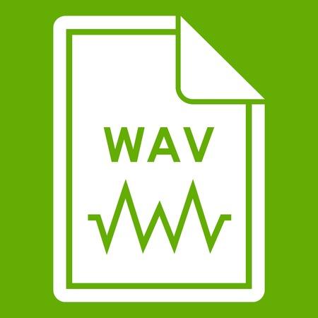 wav: File WAV icon green
