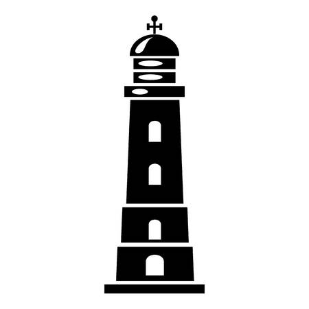 Sea lighthouse icon, simple style 向量圖像