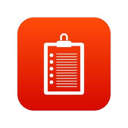 marca libros: Para hacer el icono de la lista digital rojo Vectores