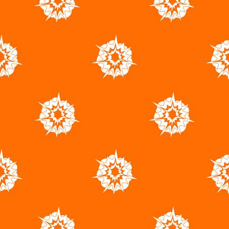 Fire explosion pattern repeat seamless in orange color for any design. Vector geometric illustration Illustration