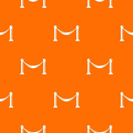 Barrier pattern repeat seamless in orange color for any design. Vector geometric illustration