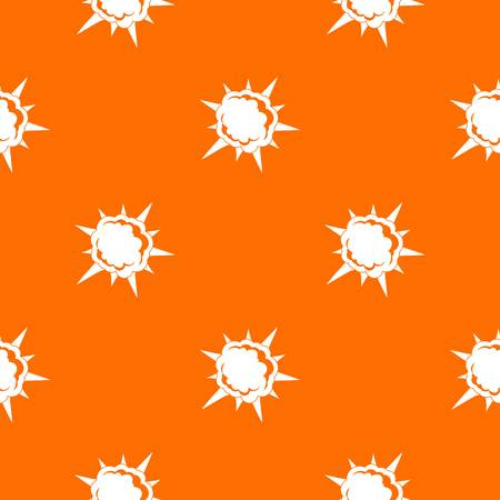 Powerful explosion pattern repeat seamless in orange color for any design. Vector geometric illustration