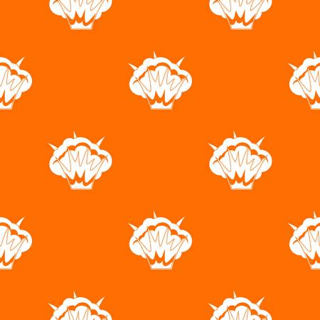 Projectile explosion pattern repeat seamless in orange color for any design. Vector geometric illustration
