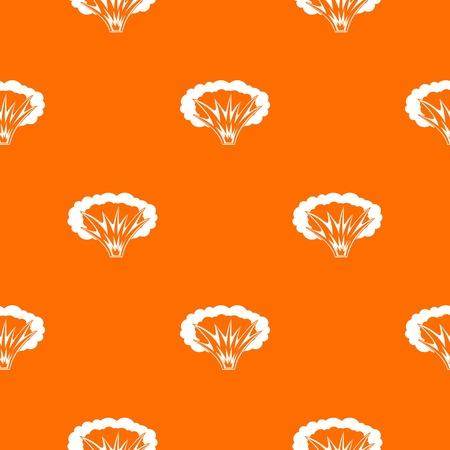 Atomaire explosie patroon herhaal naadloos in oranje kleur voor elk ontwerp. Vector geometrische illustratie Stock Illustratie