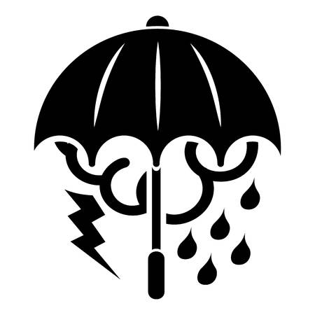Storm umbrella icon. Simple illustration of storm umbrella vector icon for web Illustration